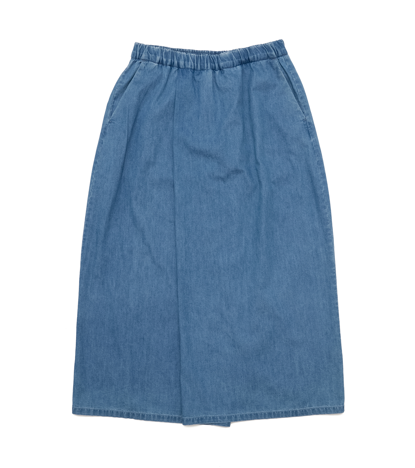 Light Denim Wrap Skirt