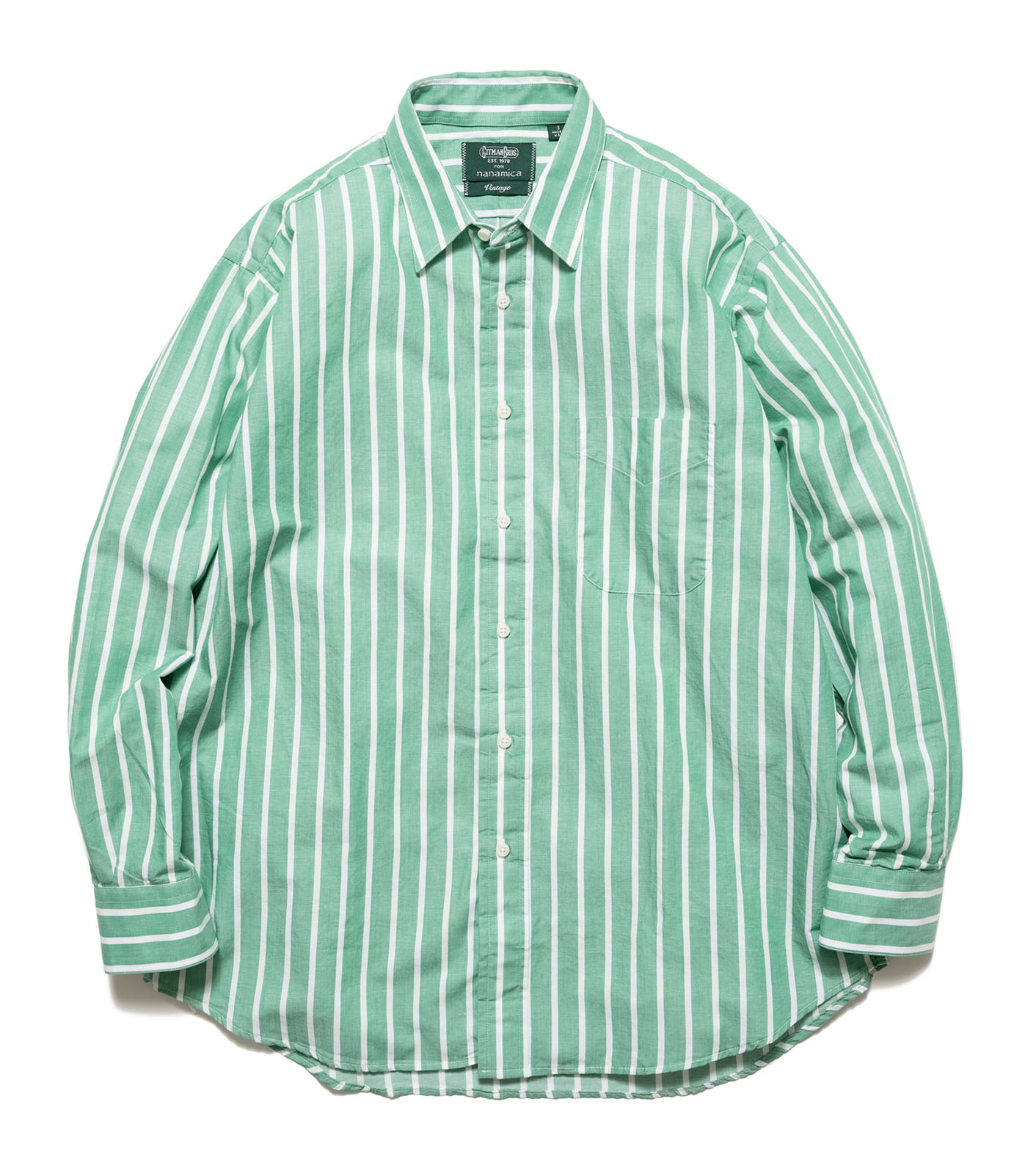 L/S Shirt Cotton/Linen  Awning Stripe