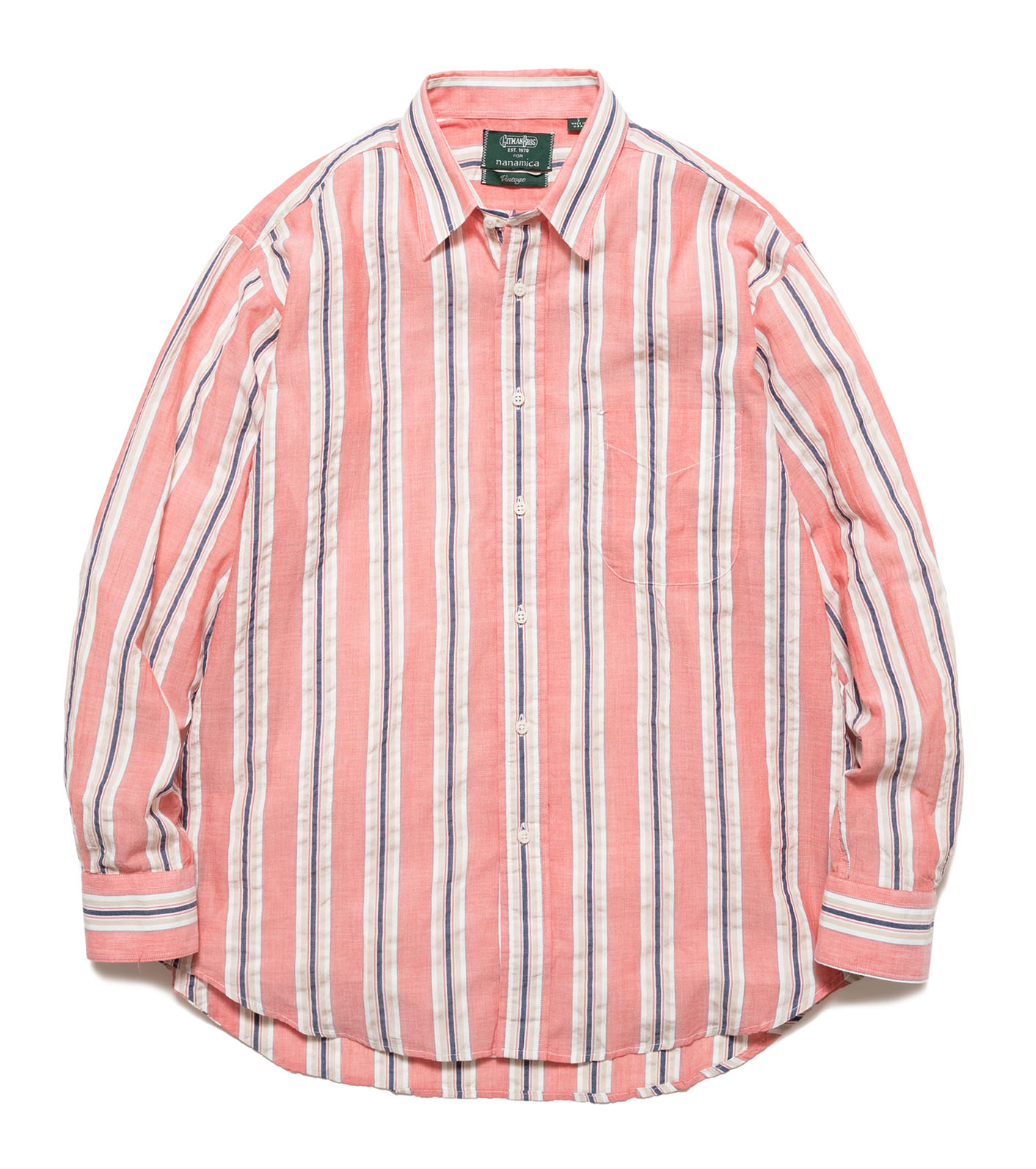L/S Shirt Cotton Awning Stripe