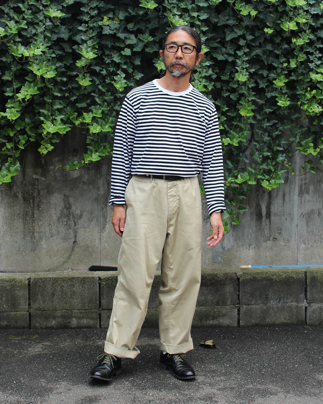 nanamica St. Jersey Tee and Wide Chino Pants