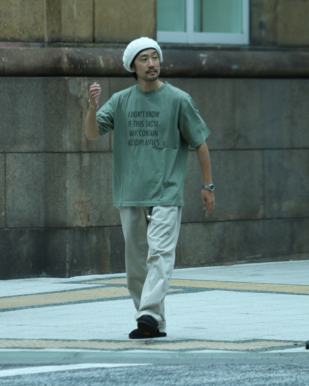 THE NORTH FACE PURPLE LABEL Graphic Tee and nanamica Wide Chino Pants