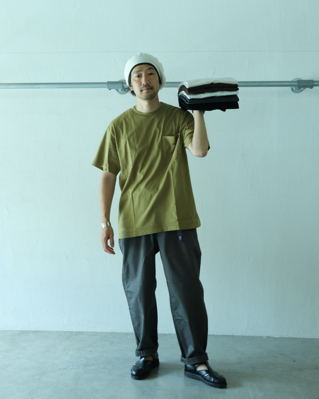 THE NORTH FACE PURPLE LABEL Natural Dyed H/S Pocket Tee