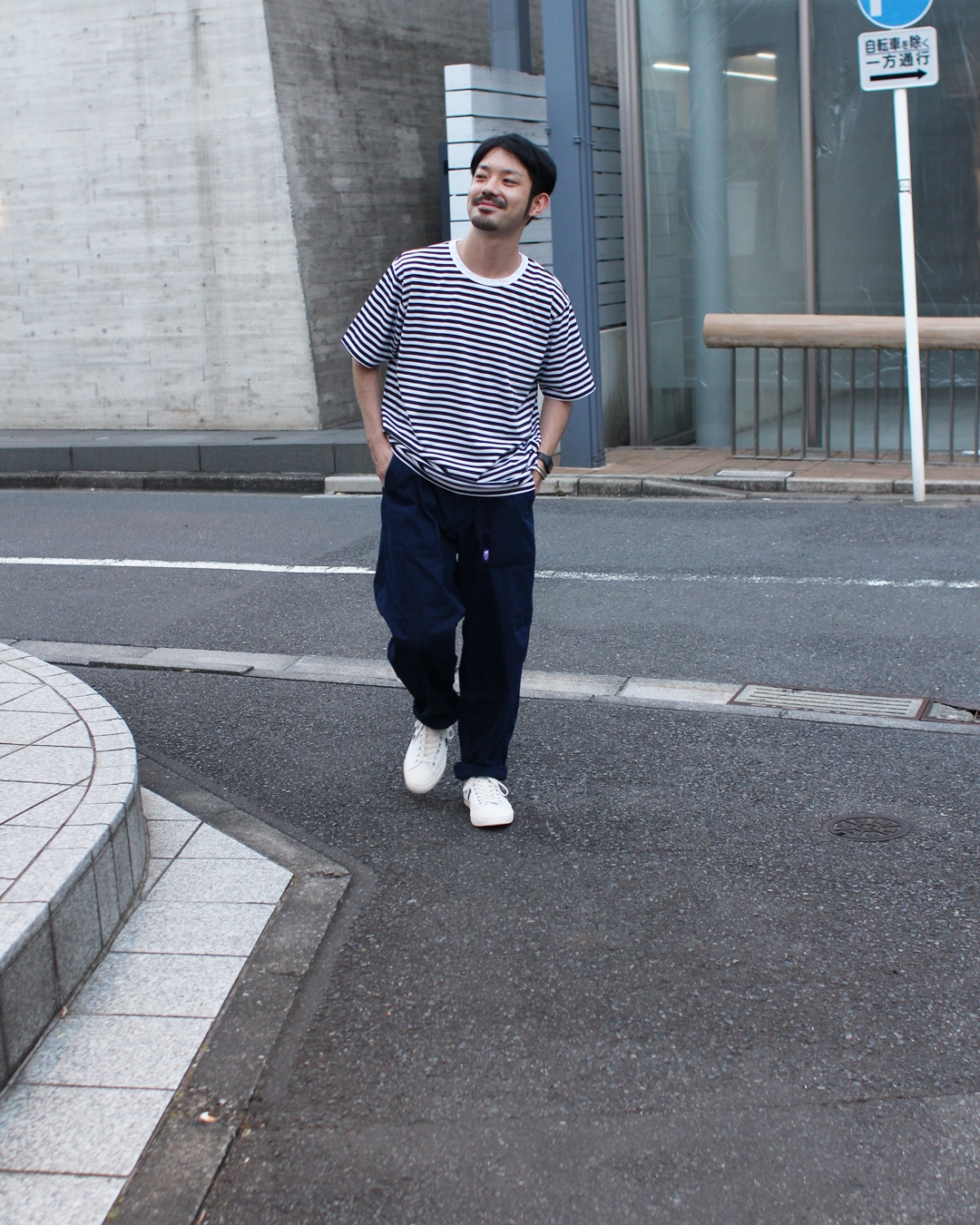 nanamica COOLMAX St. Jersey Tee and THE NORTH FACE PURPLE LABEL Indigo Mountain Field Pants